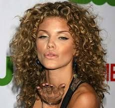 medium brown hair with blonde highlights curly hair - Google Search