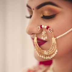 Top 10 Makeup artists in Chandigarh for a perfect bridal look! Top 10 Makeup artists in Chandigarh for a perfect bridal look! Nath Bridal, Bridal Nose Ring, Wedding Jewelry, Nose Ring Jewelry, Gold Jewelry, Nose Rings, Nose Jewels, Indian Nose Ring, Best Mehndi Designs