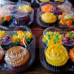 Cupcakes embalados com Carinho por Bolo de Colher Confeitaria Artesanal