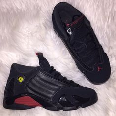 separation shoes 053ae 873a2 Nike Shoes   Air Jordan 14 Retro   Color  Black Red   Size
