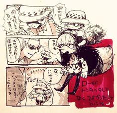 One Piece, Tontatta, Doflamingo, Rocinante, Law