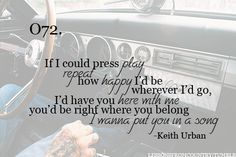 Put You In A Song - Keith Urban