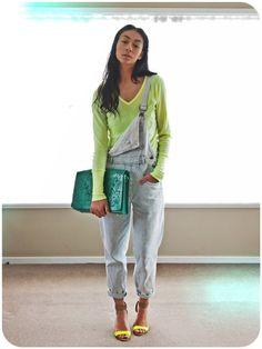 fashion westie: WORN | Overalls + Heels
