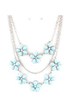 Lani Necklace in Aspen Blue on Emma Stine Limited