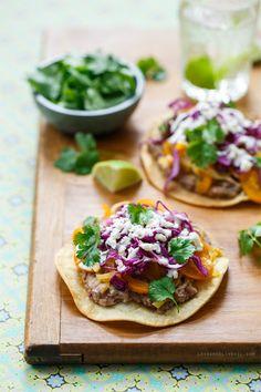 Vegetable and Bean Tostadas #meatlessmonday #recipe #healthy