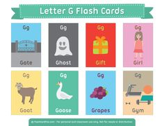 Free Printable Letter G Flash Cards Letter G Activities, English Activities, Vocabulary Activities, English Teaching Materials, Learning English For Kids, Free Printable Flash Cards, Printable Letters, English Fun, English Lessons