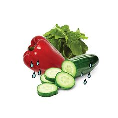 Still Thirsty? Chow Down! Up to 20 percent of your day's water should come from food. Quench your thirst (and help your health) by nibbling on water-packed veggies. Try a salad made with spinach, cucumbers, radishes, red bell peppers and tomatoes, five ingredients that weigh in with at least 90 percent water. Talk about a liquid lunch!