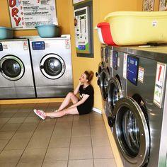 Naked woman bending over washing machine, onlyhot biz