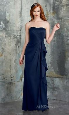 dark blue dress # long dress #