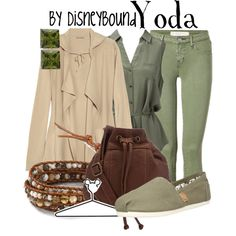 Yoda by leslieakay on Polyvore featuring Tomas Maier, Forever New, MARC BY MARC JACOBS, Steve Madden, Chan Luu, Disney and disney