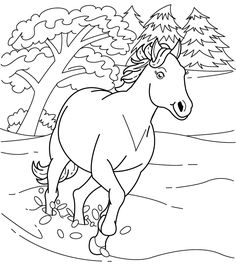 running horse coloring book pictures - WOW.com - Image Results