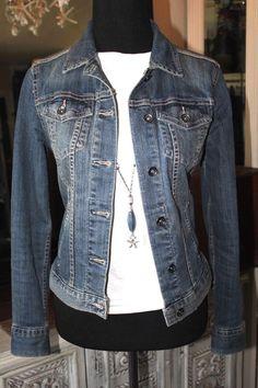 Liz Claiborne Blue Denim Jean Jacket Women Small #LizClaiborne #JeanJacket