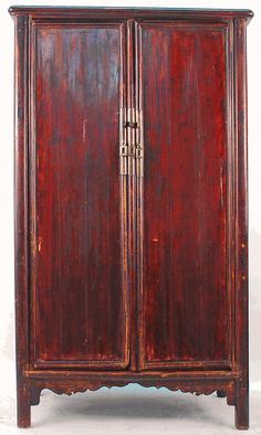Antique Asian Furniture: Rare Antique Chinese Ming Style Armoire Cabinet from Beijing, China