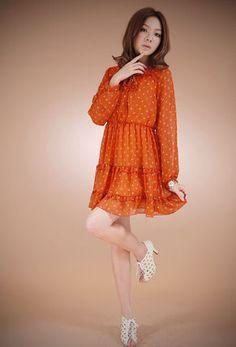 小花柄シフォン・フリルワンピース M6235#