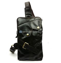 Black Leather Sling Bag Leather Bag, Black Leather, Messenger Bag Men, Luggage Bags, Sling Backpack, Shopping Bag, Crossbody Bag, Brand New, Backpacks