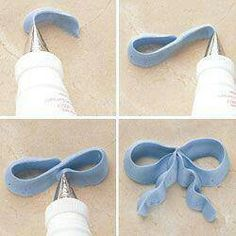 Creative/easy way to create a bow out of icing!