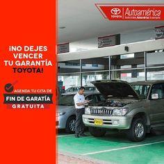No dejes vencer la garantía de tu #Toyota #Autoamérica sin hacer la revisión final, son 20 puntos los que quedan revisados y es ¡gratis!, pide tu cita con 2 días de antelación o entra a: http://ww0.autoamerica.com.co/taller/citas/cita-gratuita/