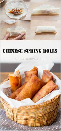 Chinese Spring Roll   China Sichuan Food
