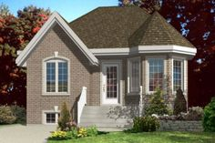 Traditional 2 Beds 1.5 Baths 874 Sq/Ft Plan #138-319 Front Elevation - Houseplans.com