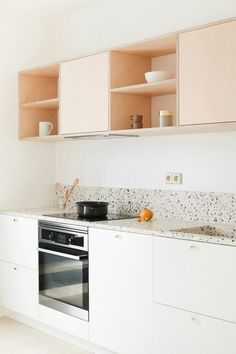 Terrazo countertops and pastel pink Minimalistic Kitchen | Minimalistic Kitchen | Nutrition Stripped #nutritionstripped #minimalistic #minimalistickitchen