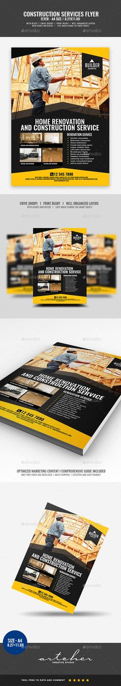Construction and Building Flyer v4 - Corporate Flyers