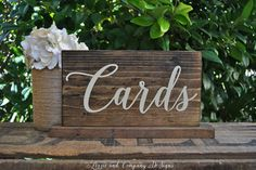 CaRds SiGn GiFts TaBLe SiGn Rustic Stained SWeeTHeaRT table sign by LizzieandCoDesigns, etsy
