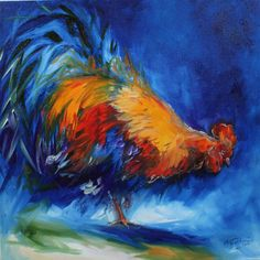 Animal Paintings Colorful Abstract | ... HUNTING 20x20 ORIGINAL OIL PAINTING FARM ANIMALS ARTIST MARCIA BALDWIN