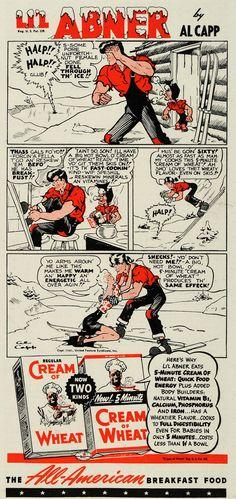 1941 Ad Al Capp Lil Abner Comic Strip Cream of Wheat - ORIGINAL ADVERTISING GH4