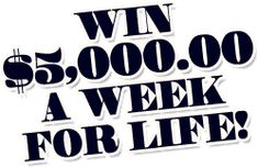 Win $5,000.00 a Week for Life from Publishers Clearing House Giveaway No. 3080. Entry into this PCH Sweepstake is free! Act now!