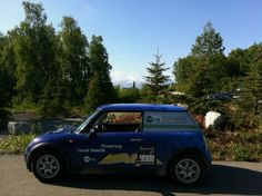 The Berry Mini stopping for a photo op on the way to Fairbanks, AK