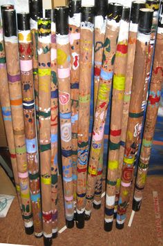 Great Aboriginal lesson! I did this last year with 4th graders. I used the large cardboard rolls from a fabric store.
