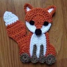 Woodland Animals Applique Pack- Crochet Pattern Only- Forest Animals- Fox- Deer- Bear- Owl- Crochet Applique Pattern – Crochet Patterns Granny Square Crochet Pattern, Crochet Squares, Crochet Motif, Crochet Appliques, Crochet Fox, Crochet Animals, Crochet Dolls, Knitted Dolls, Sewing Stuffed Animals