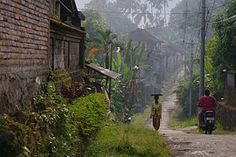 Bali, Silhouette, Woman, Motorbike