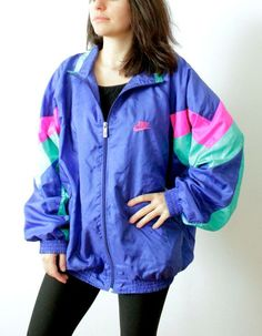 Vintage Nike Windbreaker Jacket by ThePinacoladaShop on Etsy