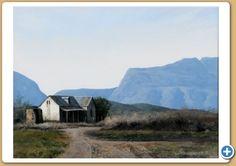 Code 6644 Title:- Swartberg Farmhouse South African Artists, Open Spaces, Farmhouse, Mountains, Landscape, Travel, Beautiful, Scenery, Viajes