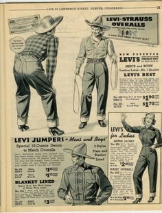 whitefeather mfg co Vintage Jeans, Vintage Outfits, Vintage Fashion, Retro Advertising, Vintage Advertisements, Bicicletas Raleigh, Vintage Western Wear, Funny Ads, Leather Label