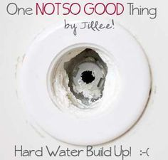 It's known by several different names: hard water stains, lime scale, mineral deposits, mineral build-up, hard water deposits.It's that white crusty GUNKthat build ups around sink & tub faucets, shower heads, etc, etc, etc. Itforms when tap water evaporates and leaves behind minerals such as calcium and magnesium, and it becomes ROCK HARD when it's …