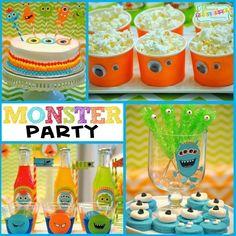 Monster Birthday Party Idea www.spaceshipsandlaserbeams.com