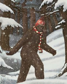 Everyone Gets Cold --Bigfoot in the winter