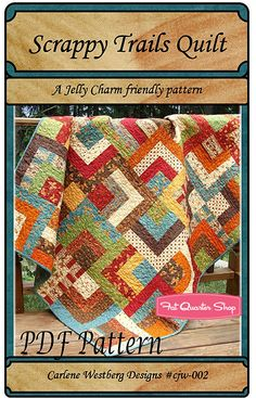 Scrappy Trails Downloadable PDF Quilt Pattern Carlene Westberg - Fat Quarter Shop