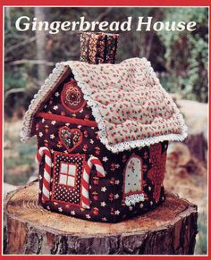 Uncut Vintage Yours Truly Cloth Gingerbread House Pattern--Tissue Box Cover or Playhouse for Little Dolls