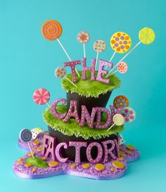 Love this Cake by Confetti Cakes! Would be super cute for #CandyCrate 's next event! So OSM!!