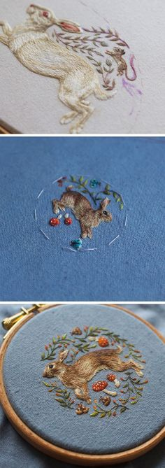 New Impossibly Intricate Embroideries by Chloe Giordano #bordados