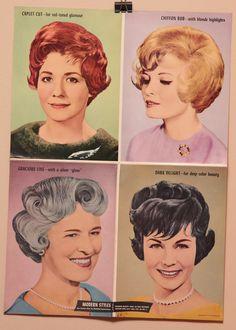 Vintage Hair Salon Poster, 16x22, 1960s. 27.00, via Etsy.