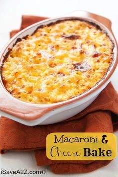 NEVER LOSE THIS RECIPE!!! Seriously. it's AMAZING! Macaroni and Cheese Bake Recipe! You can make it yourself in no time!