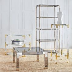 www.littlerugshop.com Lucites never a lightweight in the style department. by jonathanadler
