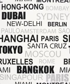 Wallpaper city names, where can I buy this from? | Wallpaper ...