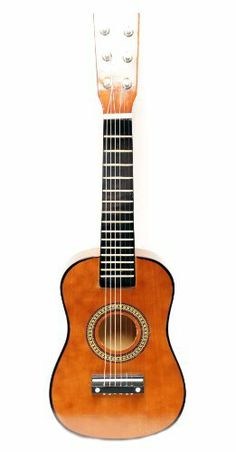 """23"""" Childrens Toy Coffee Acoustic Guitar :String Instrument by Bridgecraft. $12.49. Brand New Kids Toy Guitar! Perfect for kids that are too small for a full size guitar! Ages: 3-6 Color: See Picture (Shade may vary) 23 inches long Great gloss finish Full wood construction Nylon strings or Steel (may vary)"""