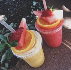 Fruit Smoothies...YUM!