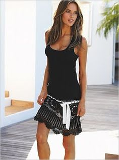 Love this crocheted skirt